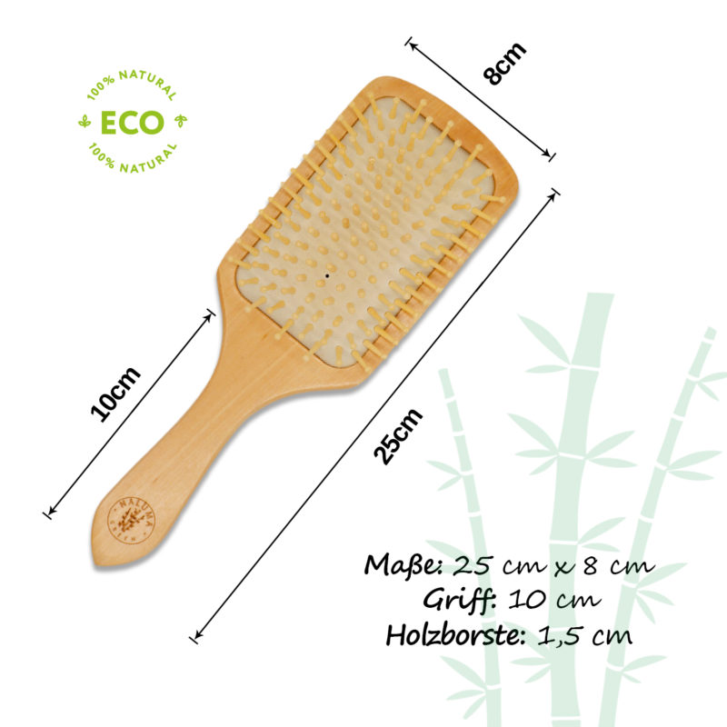 Haarbürste Holz Maße
